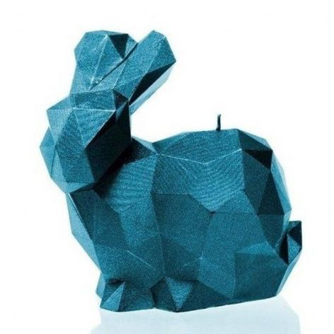Candellana - Big Rabbit Candle - Metallic Blue